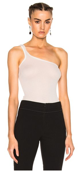 Isabel Marant Mantsy Top in neutrals,white - 100% silk.  Made in France.  Hand wash.  Stretch rib knit fabric.