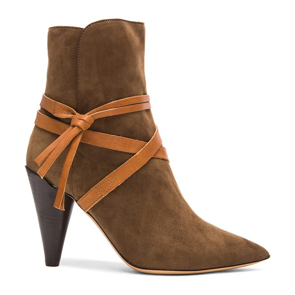 Isabel Marant Nerys velvet boots in brown - Goat suede leather upper with leather sole.  Made in...