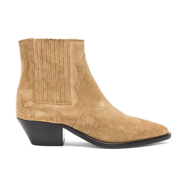 Isabel Marant Suede Derlyn Low Boots in neutrals - Suede upper with leather sole.  Made in Portugal. ...