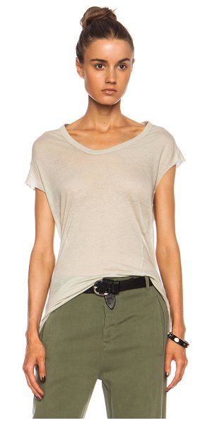 Isabel Marant Xani seymour cotton tank in neutrals - 100% cotton.  Made in Tunisia.  Raw cut sleeve openings.