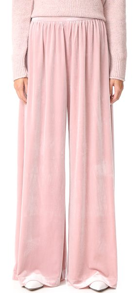 Isla so intent pants in dust pink - These crushed velour ISLA trousers are cut in a fluid,...