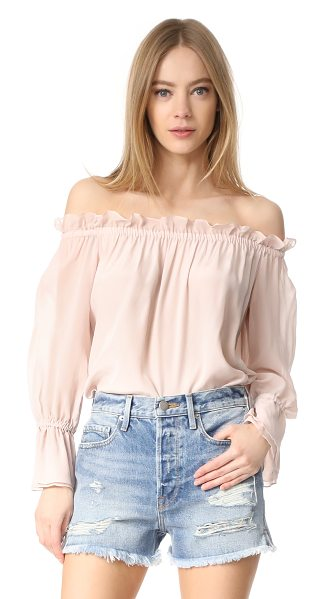 ISOLDA frufru top - A feather-light Isolda top with an off-shoulder...