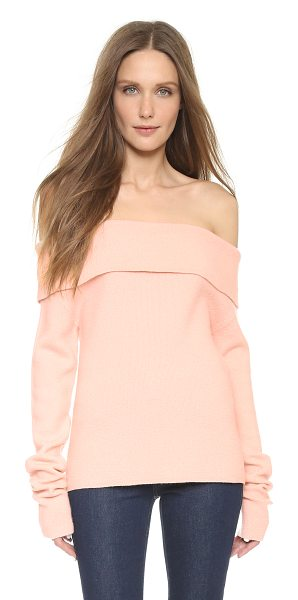 Issa Dani off shoulder sweater in pink quartz - A soft ISSA sweater in a flirty, off shoulder profile....
