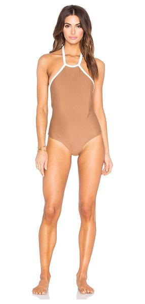 Issa de Mar Natalia one piece in brown - 80% nylon 20% lycra. Hand wash cold. Elastic stretch...
