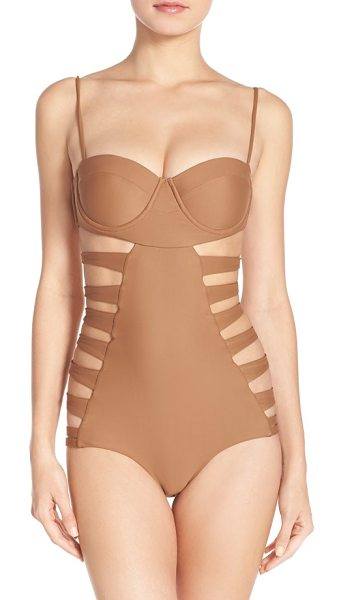 Issa de Mar Issa de mar san sebastian underwire one-piece swimsuit in cafe - A statement-making one-piece swimsuit features daring...