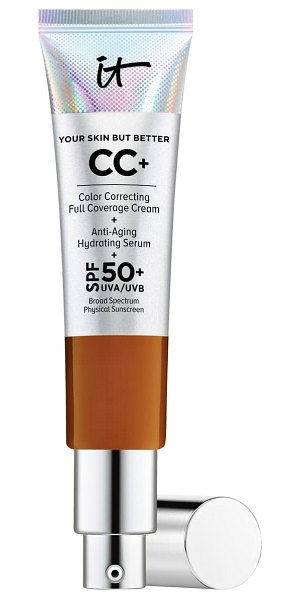 IT Cosmetics cc+ cream with spf 50+ in rich honey