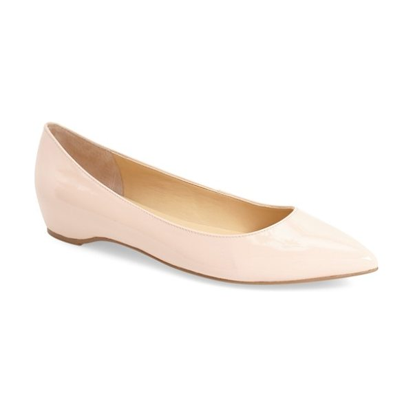 Ivanka Trump 'chic' flat in blush patent - The season's essential almond-toe flat gets a little...
