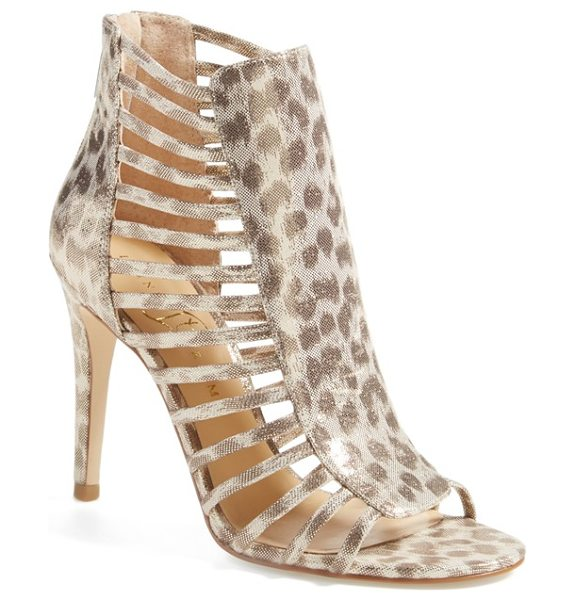 Ivanka Trump davinic open toe sandal in gold leopard - An open-toe sandal becomes ever-more alluring with a...