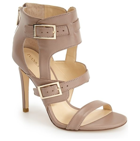 Ivanka Trump dolanu strappy sandal in taupe leather