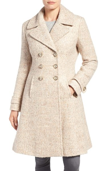 Ivanka Trump double breasted fit & flare coat in taupe melange - Tailored to skim the figure before flaring elegantly at...