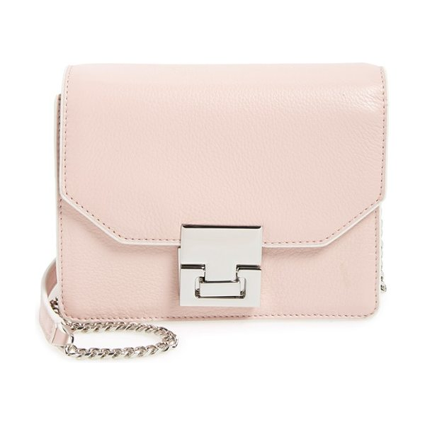 Ivanka Trump Hopewell leather crossbody bag in rose - Contrast edging and pristine hardware accentuate the...