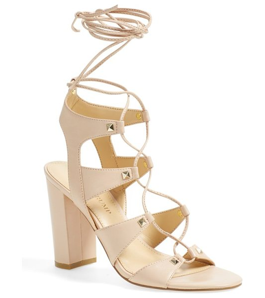 Ivanka Trump kavita ghillie sandal in latte leather