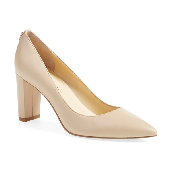 Ivanka Trump 'lysa' pointy toe pump in lite latte leather - This wardrobe-staple pointy-toe pump is lifted by a...