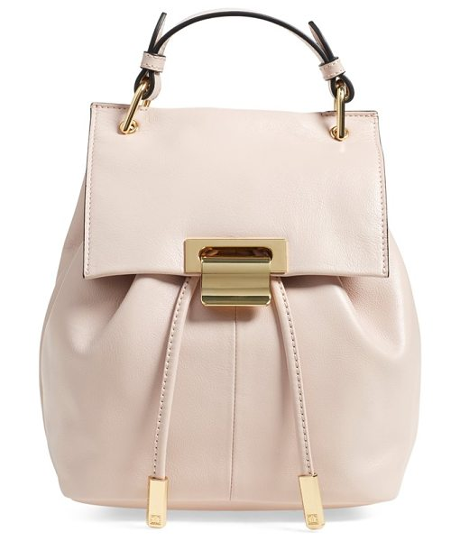 IVANKA TRUMP Mini turner leather backpack in rose - This sophisticated backpack serves as an everyday...