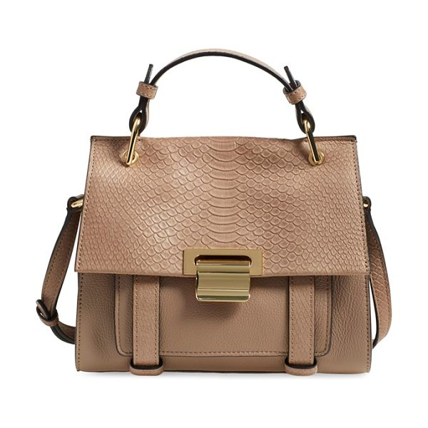 Ivanka Trump Mini turner leather satchel in pale taupe - This sophisticated satchel serves as an everyday...