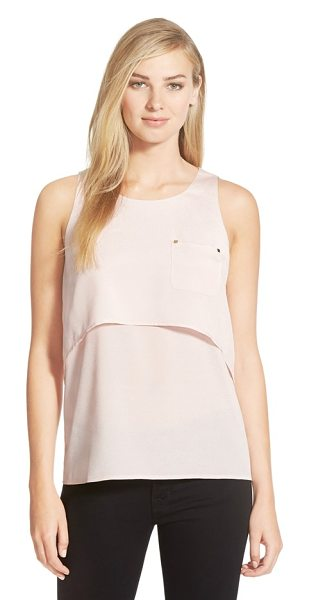 IVANKA TRUMP pocket detail tiered crepe tank - A classic scoop-neck shell in blushing crepe gets a...