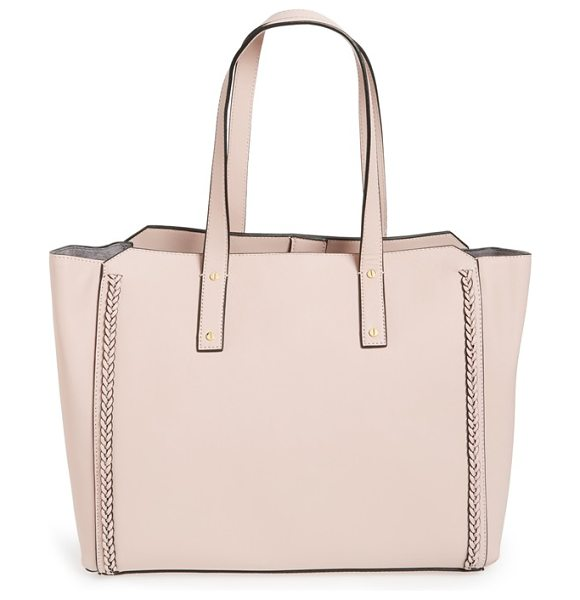 Ivanka Trump Soho solutions leather work tote with battery charging pack in blush - Refresh your handbag collection with a tote that can...