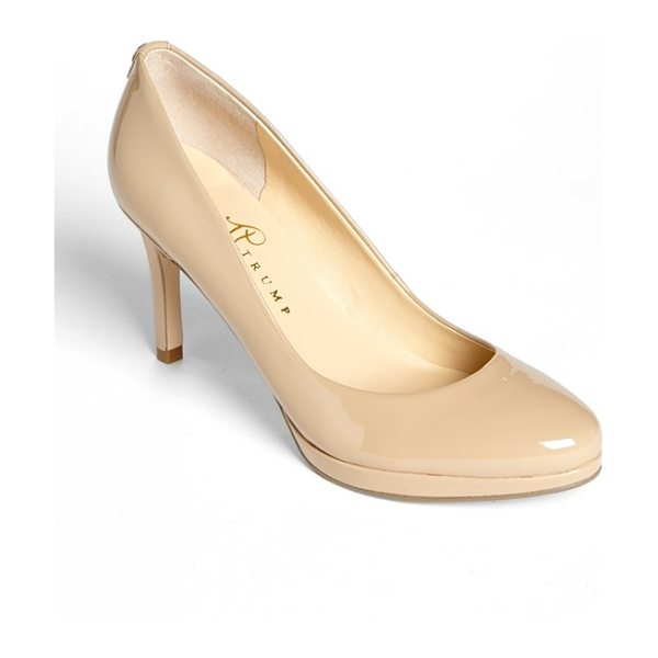 Ivanka Trump sophia pump in natural patent - A just-right platform and slim heel elevate this...