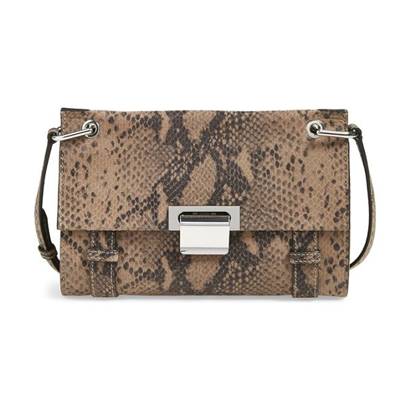 Ivanka Trump Turnberry snake embossed crossbody bag in pale taupe - This sophisticated crossbody serves as an everyday...