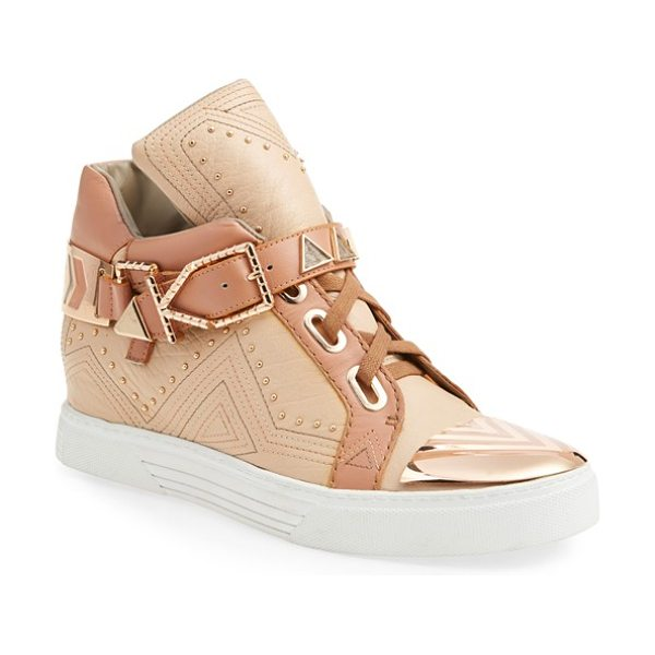 IVY KIRZHNER lunar hidden wedge sneaker - 18-karat gold plates the cap toe and etched hardware of...