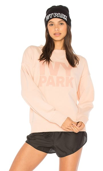 IVY PARK Casual Sweatshirt in blush & tonal logo - Self: 68% cotton 30% poly 2% elastaneTrim: 58% cotton...