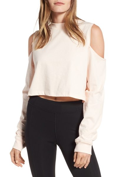 IVY PARK cold shoulder boyfriend tee in pale pink - The perfect way to show off toned biceps while staying...