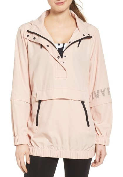 IVY PARK convertible waterproof windbreaker in blush - Keep your pace while hitting the pavement or running...