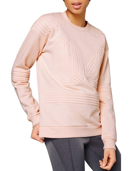 IVY PARK corded 04 sweatshirt in pale pink - Corded stripes and a '04' design lend cool texture and...