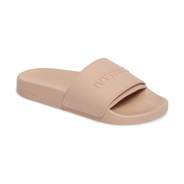 IVY PARK embossed neoprene lined slide sandal in dusty pink
