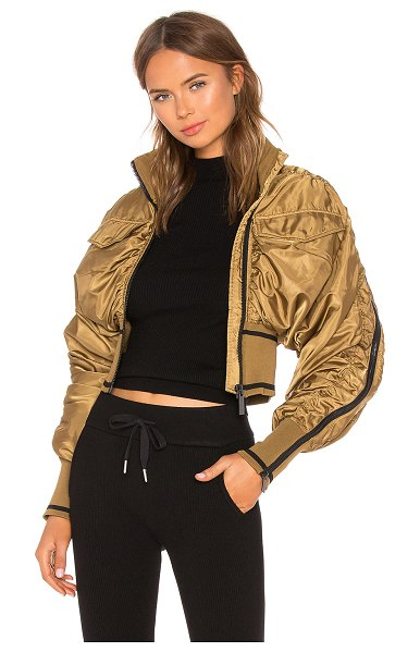 IVY PARK Military Flight Corset Bomber Jacket in brown - Self & Contrast 1: 100% polyLining: 100%...