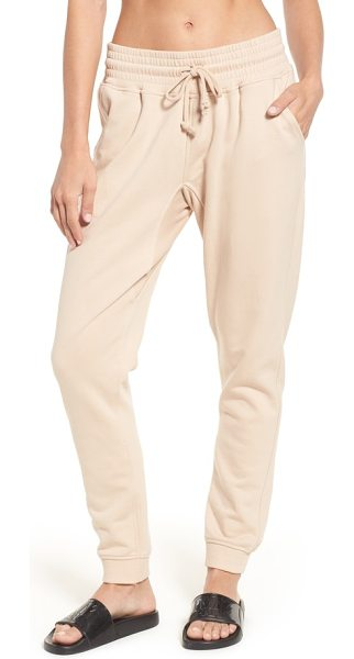 IVY PARK oversize washed jersey jogger sweatpants in dusty pink - In a fashion-forward shade of pale pink, these...