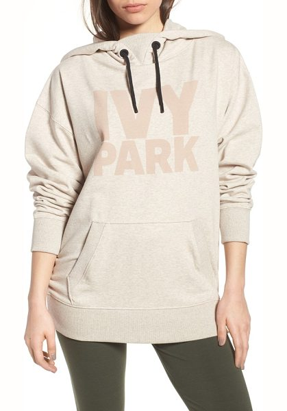 IVY PARK programme hoodie in oatmeal - A tonal logo featuring the brand's signature bold...