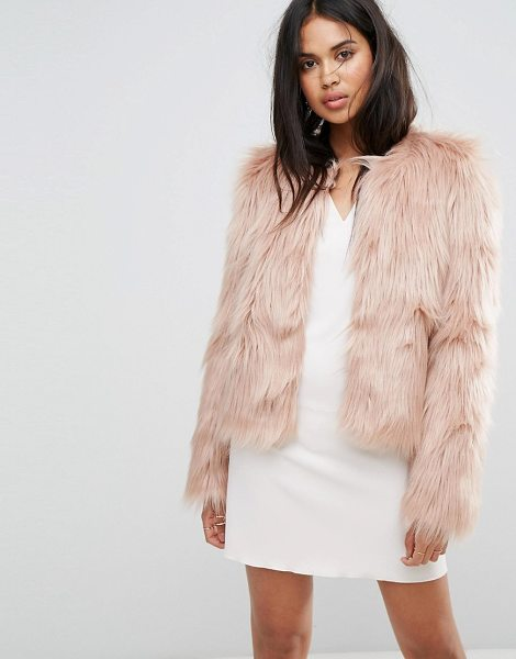 """Ivyrevel Fluffy Short Jacket in pink - """"""""Jacket by Ivyrevel, Faux-fur fabric, Fully lined, Crew..."""