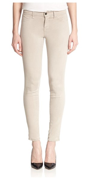 J BRAND Luxe sateen anja ankle cuff jeans - Ultra-skinny jeans finished with raw-edge cuffs. Belt...