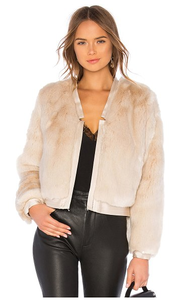 J Brand Ashbey Faux Fur Jacket in cream - Faux Fur: 100% acrylicLining: 100% cuprammoniumContrast:...