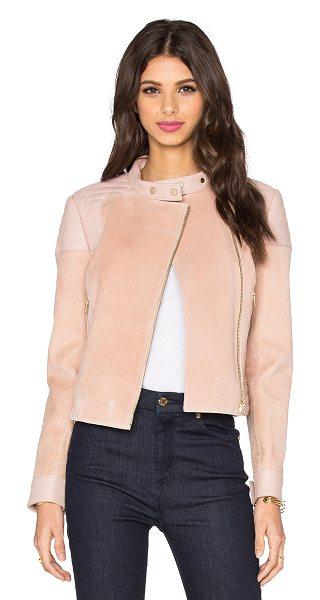 J Brand Cardiff jacket in blush - Self: Genuine leatherLining: Cotton blend. Professional...