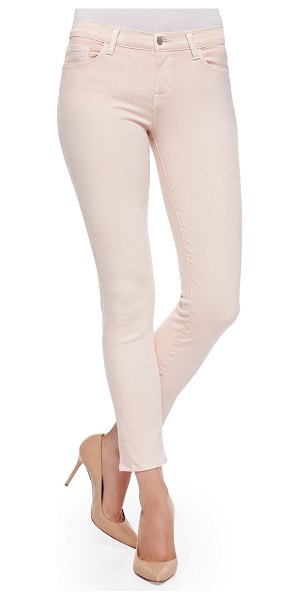 J Brand Rail mid-rise cropped skinny jeans in pink - J Brand Jeans Rail cut in twill. Approx. measurements:...
