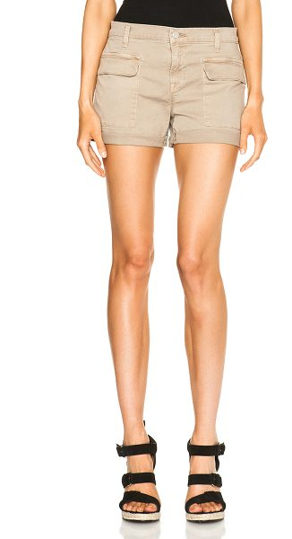 J BRAND Kai shorts in neutrals - 97% cotton 3% elastan.  Made in USA.  Front flap pockets...