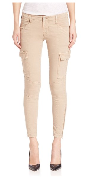 J Brand mid-rise houlihan cargo pants in distressed sandsky - Distinctive seaming style these mid-rise jeans. Belt...