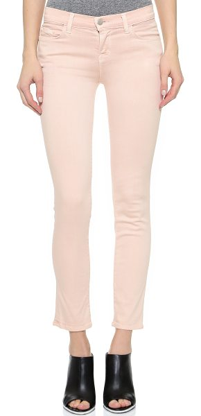 J Brand Photo ready mid rise rail jeans in blush - Mid rise J Brand skinny jeans with an ankle length...