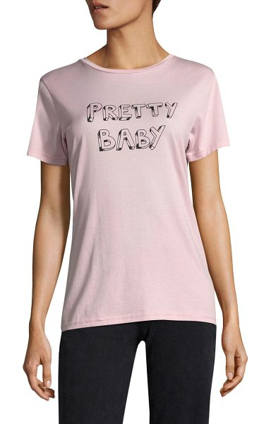 J Brand pretty baby cotton tee in pale pink - From the BELLA FREUD x J BRAND Collection. Cotton jersey...
