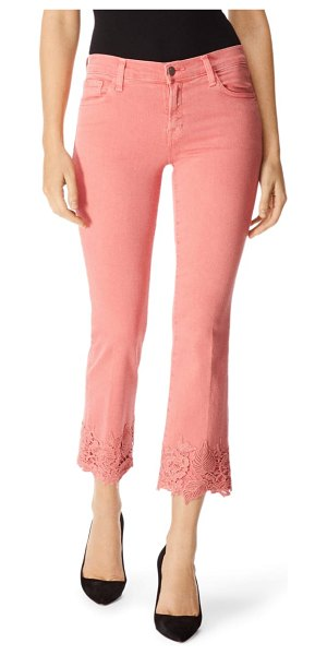 J Brand selena crop bootcut jeans in coral