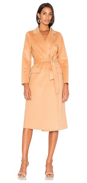J. RYU Haze Coat in tan - 50% wool 50% poly. Dry clean only. Open front. Front...
