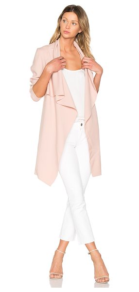 J. RYU Molly Coat in pink - 79% poly 17% rayon 4% polyurethane. Dry clean only....