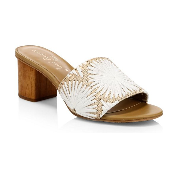 Jack Rogers bettina mid heel mules in natural - Chic raffia mules with a pretty floral design....