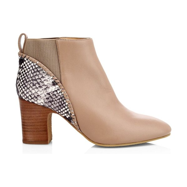 Jack Rogers poppy leather booties in taupe
