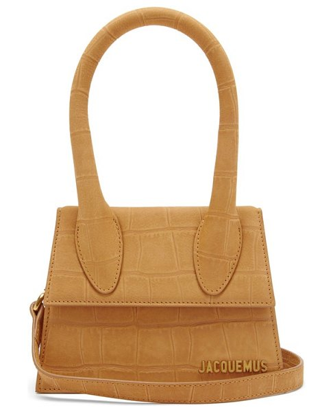 JACQUEMUS chiquito crocodile-effect leather bag in tan