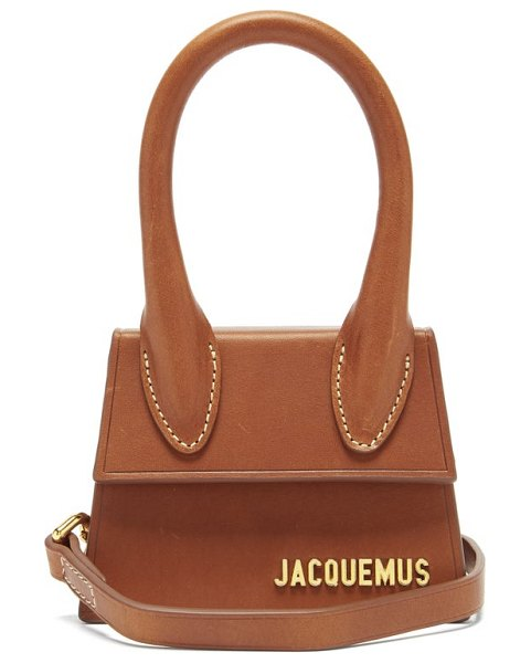 JACQUEMUS chiquito leather cross-body bag in brown
