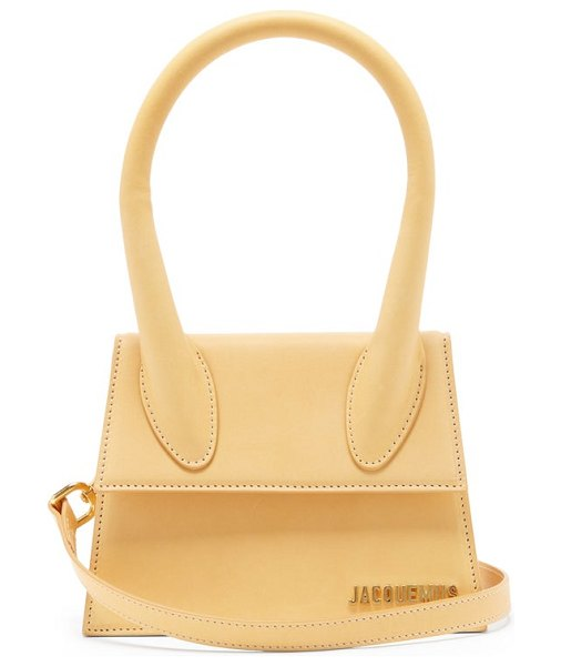 JACQUEMUS chiquito leather cross-body bag in light brown