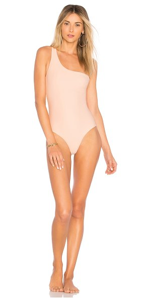 JADE Swim Apex One Piece in pink - 82% nylon 18% spandex. Hand wash cold. Stretch fit....